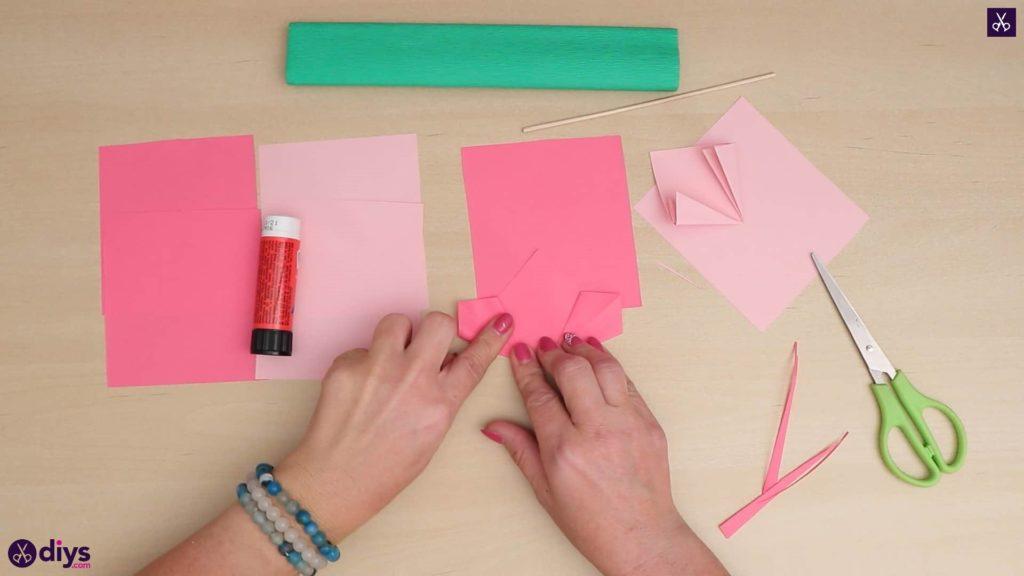 Bricolage papier 3d fleur plier papier