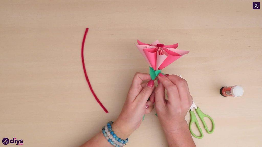 Artisanat de fleurs en papier 3D bricolage