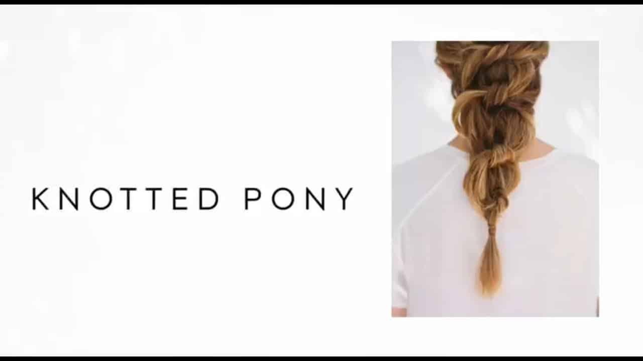 Poney volumineux noué bricolage