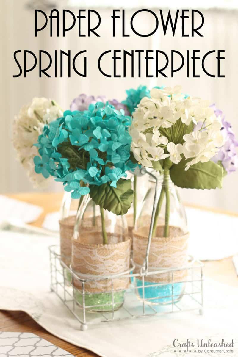 Centre de table en papier fleur et dentelle