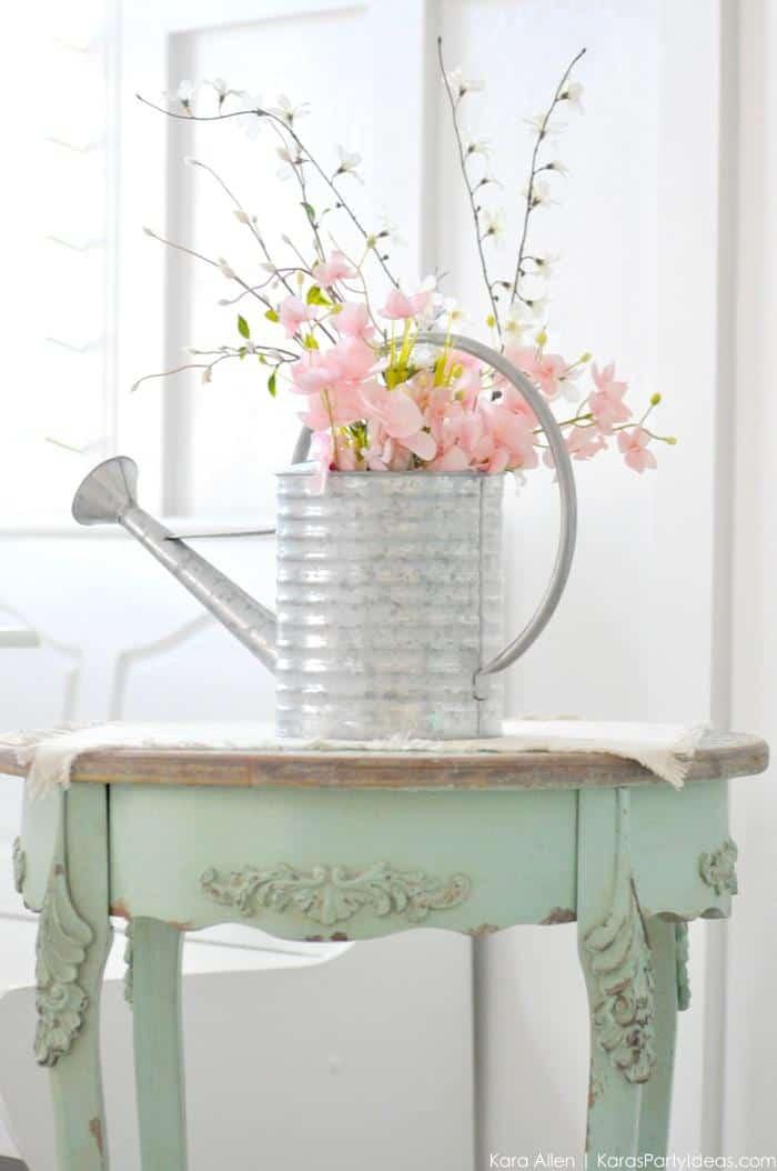 Bouquet d'arrosoir rustique