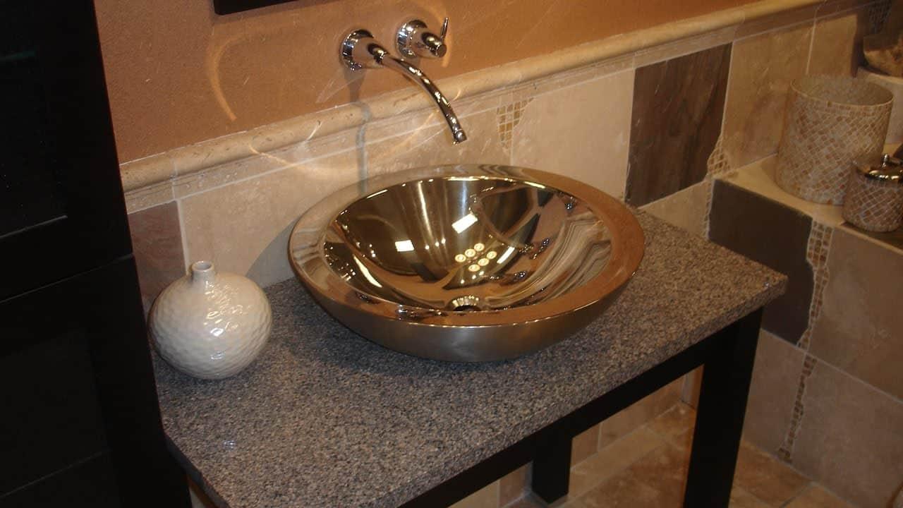 Meuble-lavabo de bricolage avec lavabo vasque