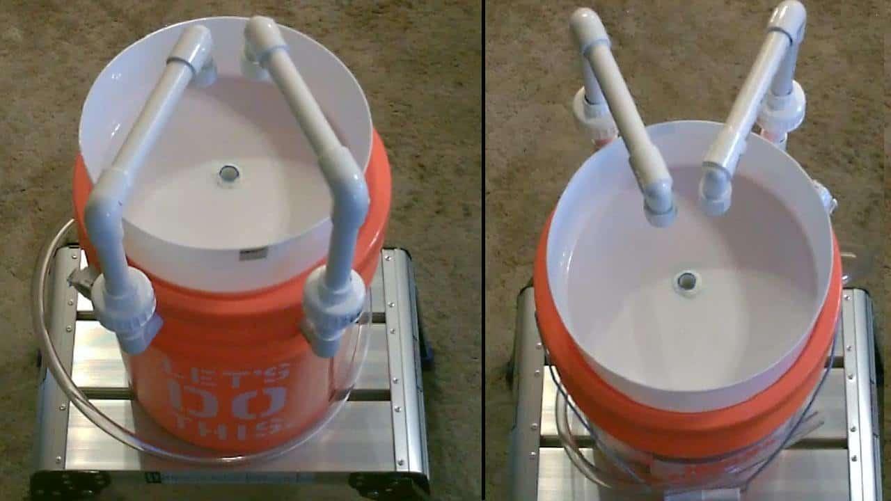 Seau de 5 gallons et évier de camp de tuyaux en PVC