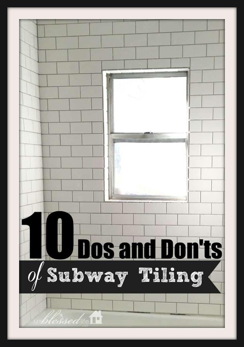 10 choses à faire et à ne pas faire pour le carrelage du métro