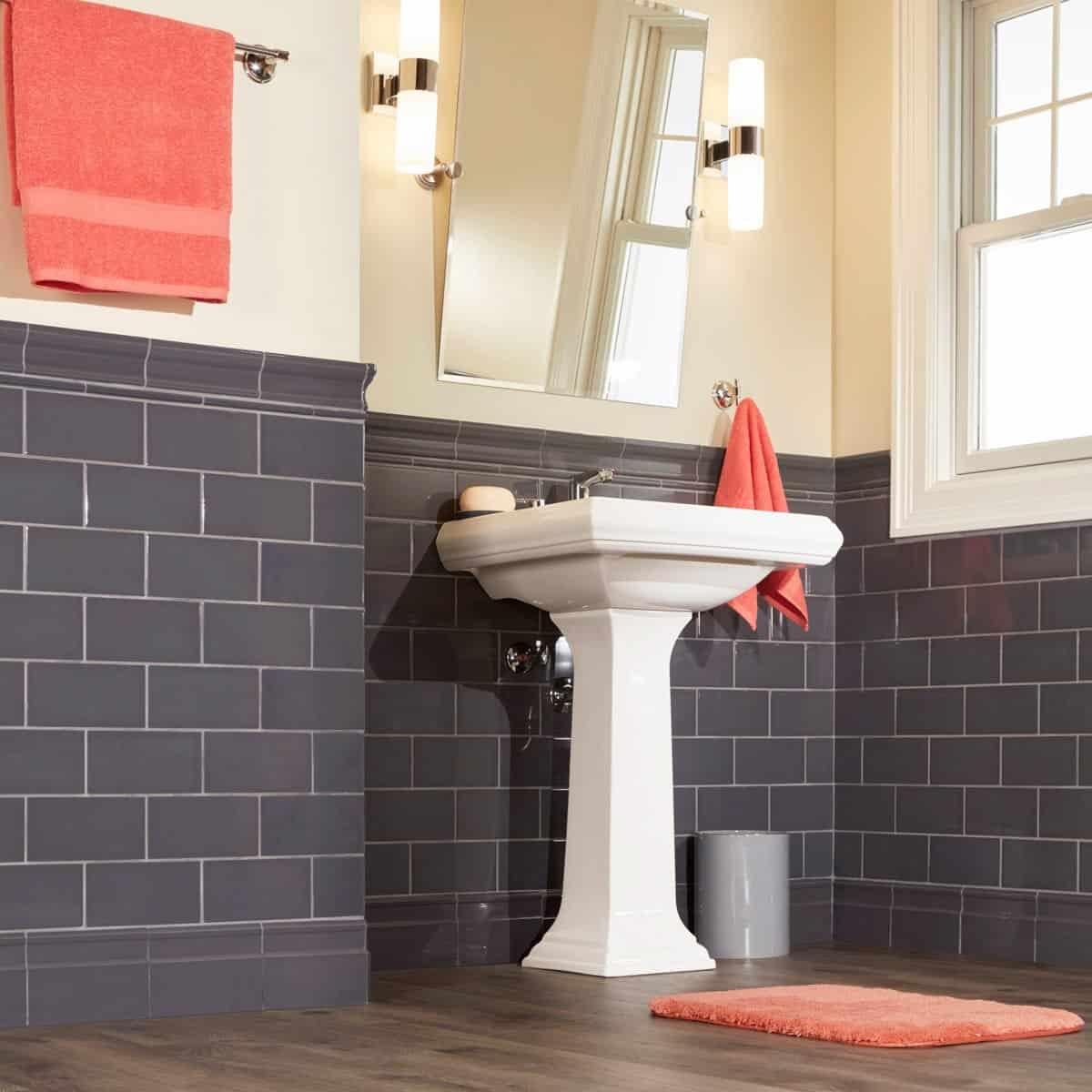 Conseils pour les grands carreaux de métro dans les salles de bains