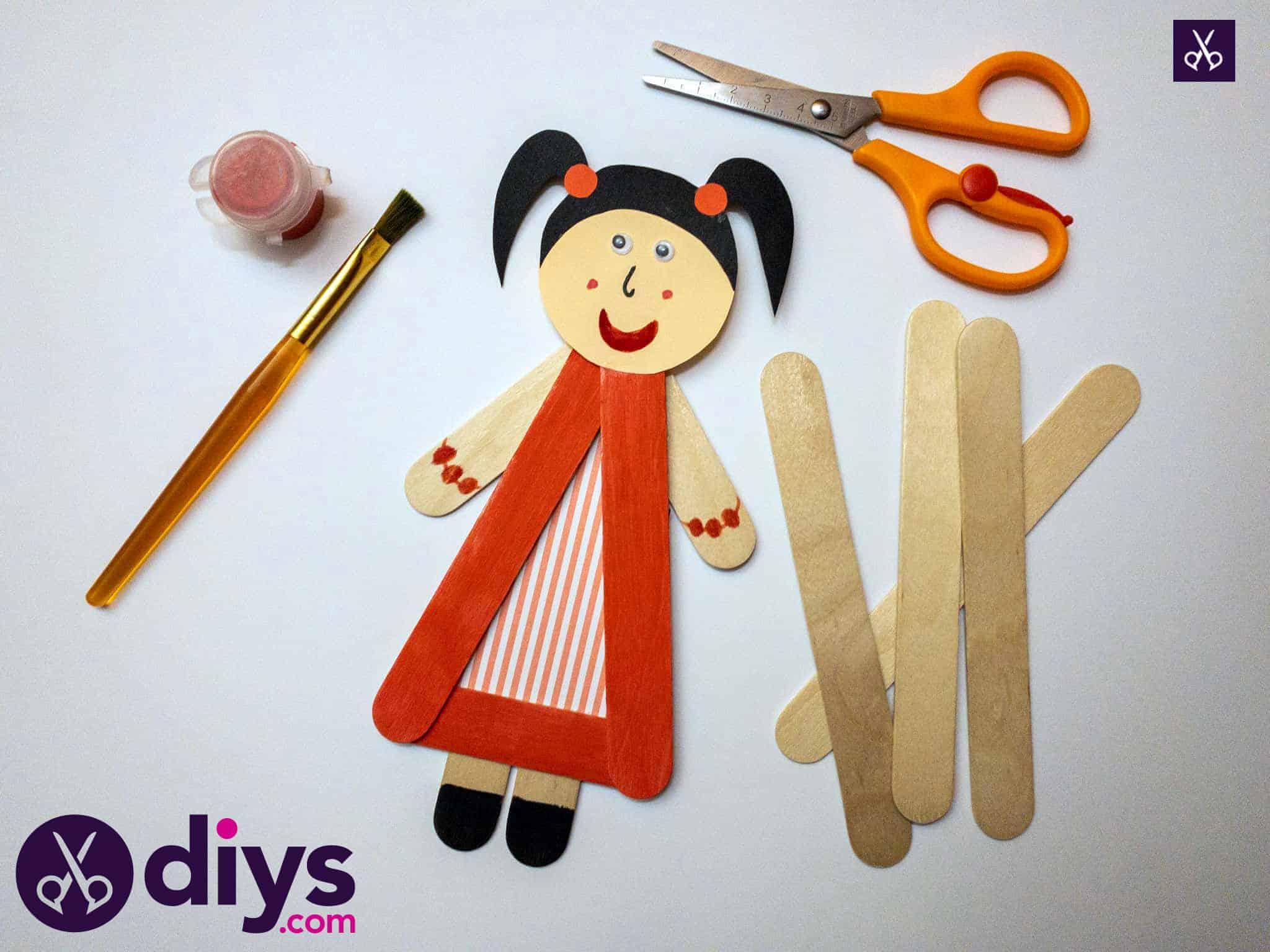 Comment faire une marionnette en bâton de popsicle