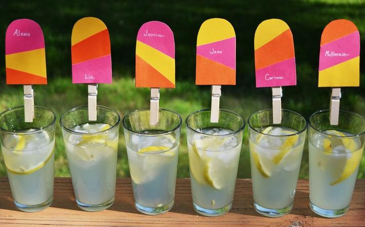 Étiquettes de boisson Popsicle