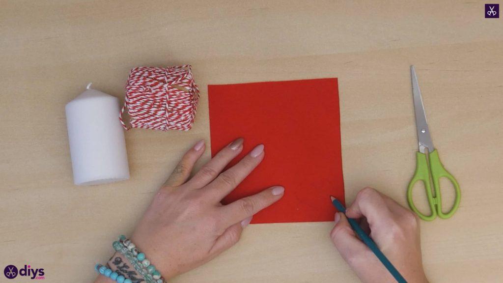 Bougie bricolage papier de valentine rouge