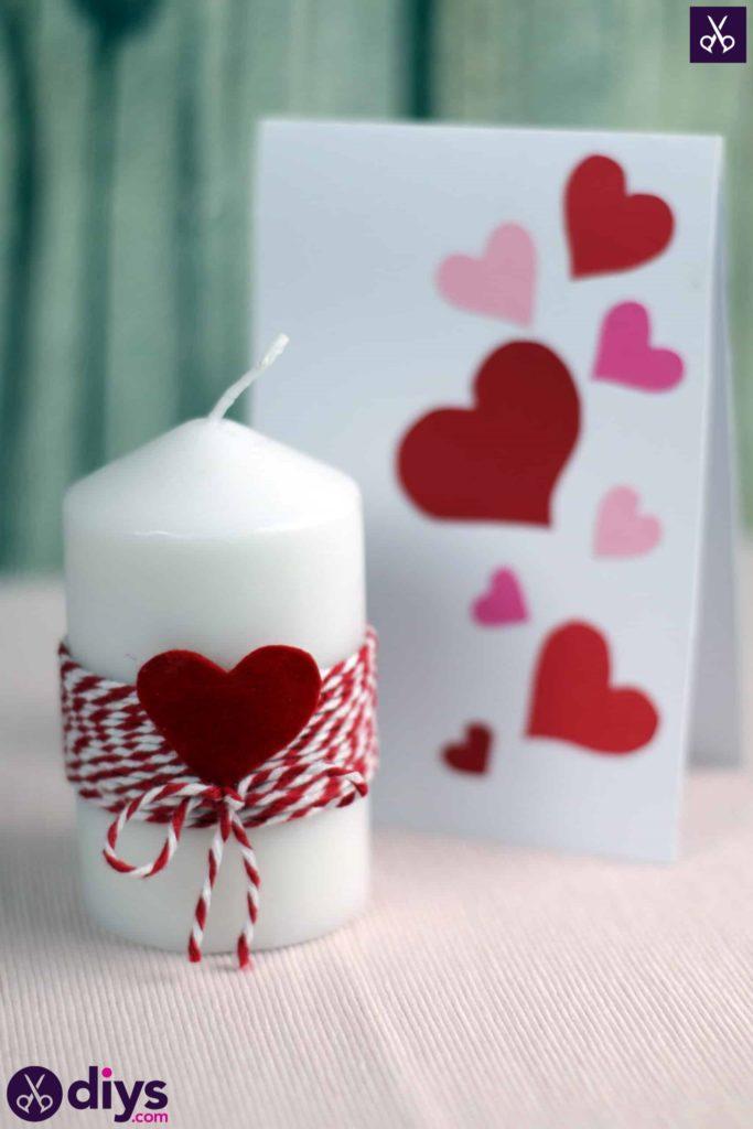 Bougie bricolage Saint Valentin
