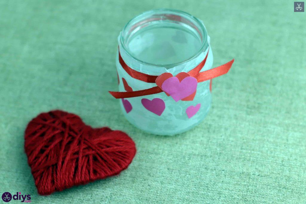 Décor de bougeoir pour la Saint-Valentin