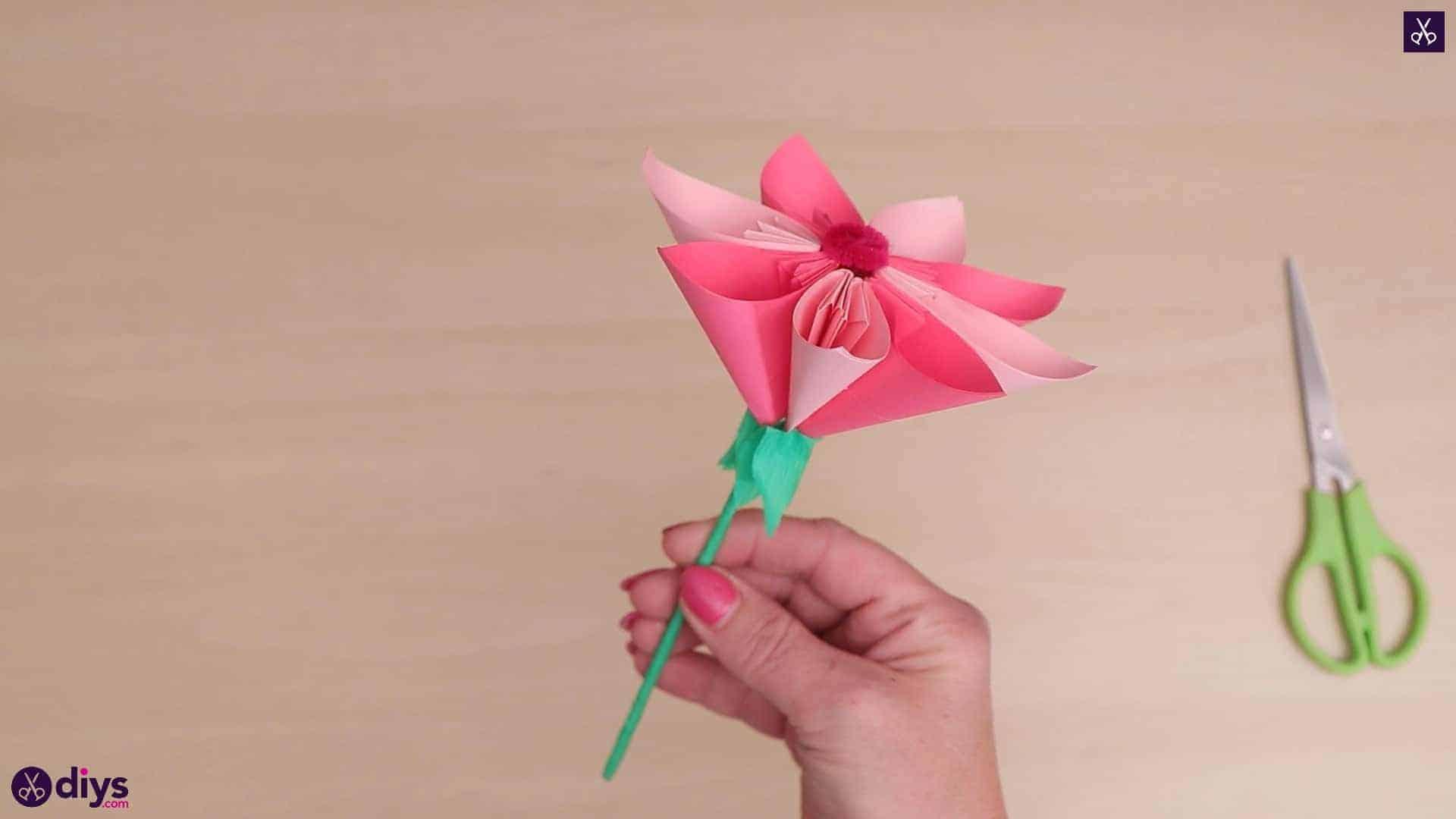 Fleur de papier 3d bricolage