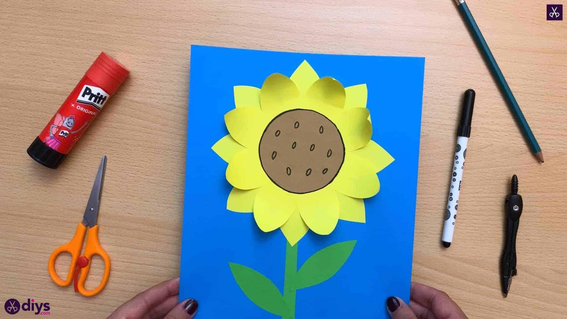 Comment faire un tournesol en papier