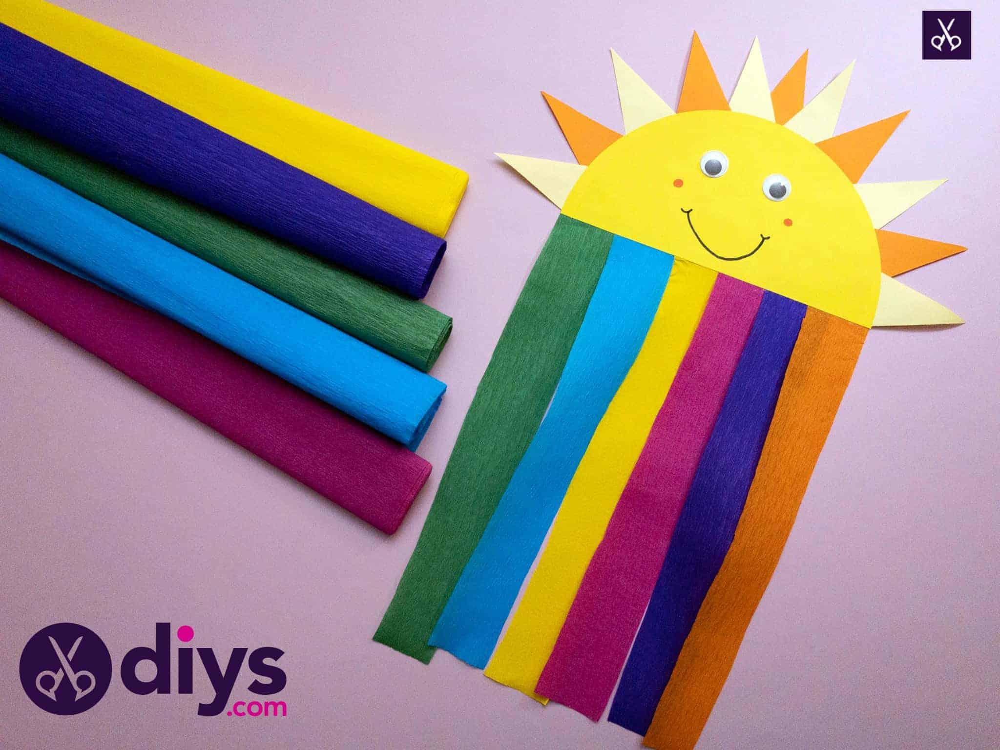 Comment faire un soleil en papier arc-en-ciel