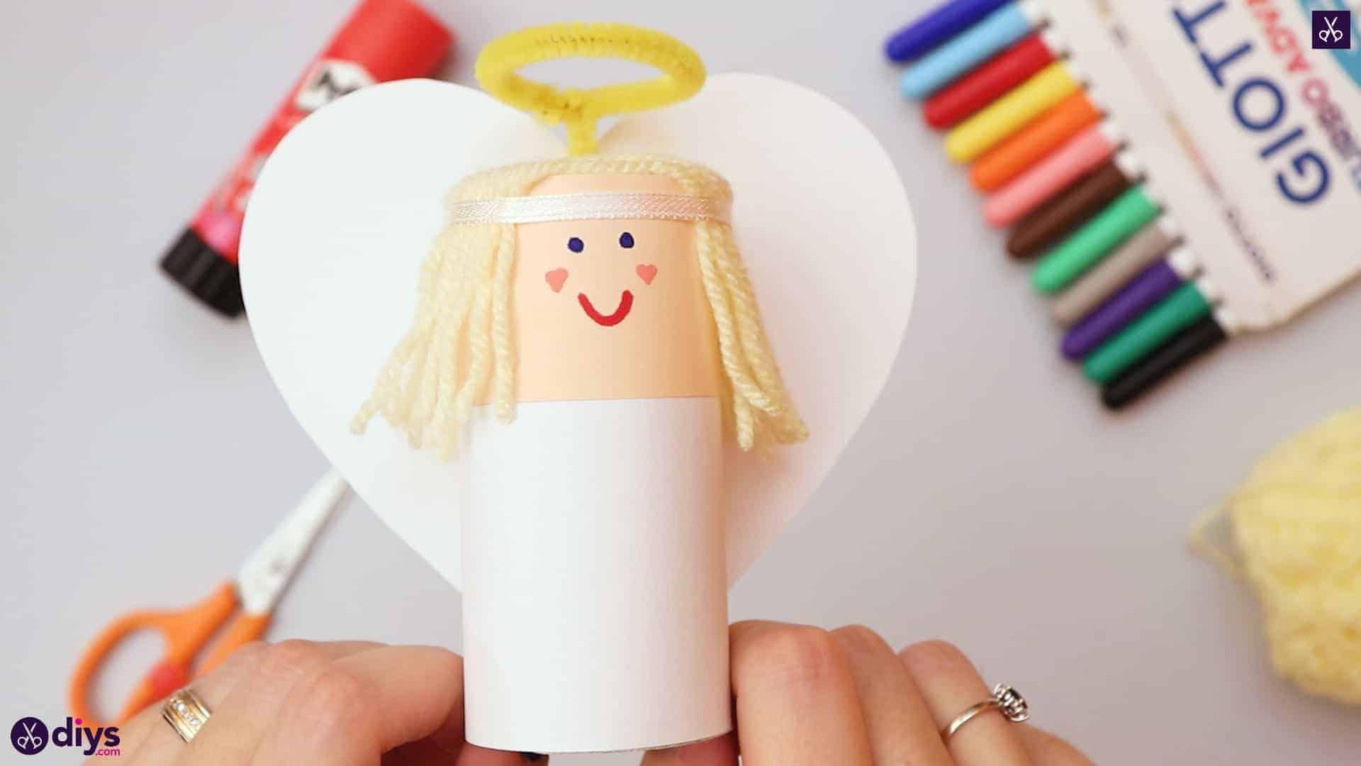 Comment faire un décor d'ange en rouleau de papier toilette