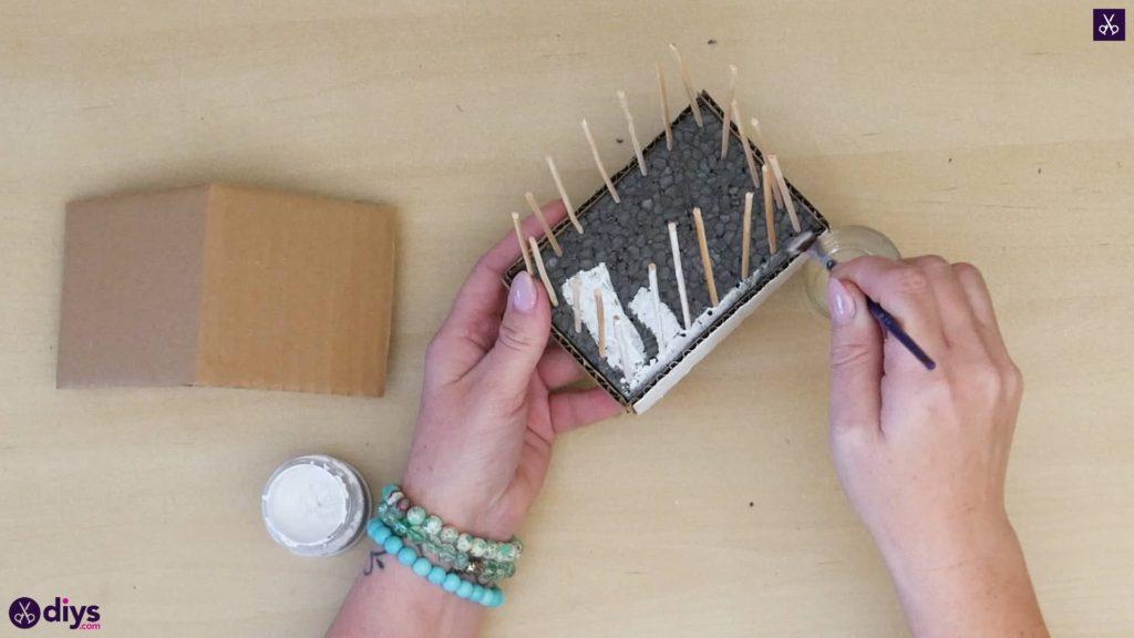 Pièce maîtresse de cage miniature bricolage étape 8a
