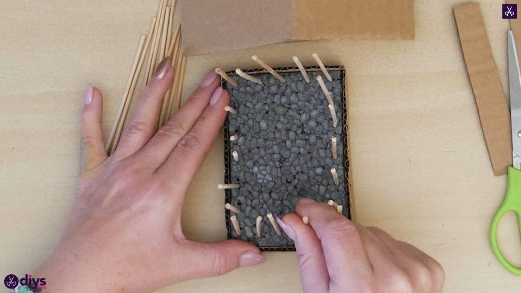Pièce maîtresse de cage miniature bricolage étape 7a