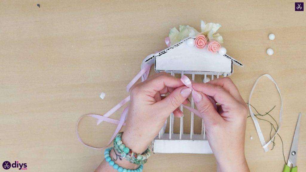 Pièce maîtresse de cage miniature bricolage étape 10j