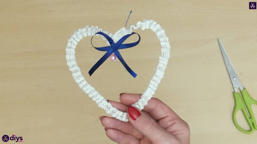 Artisanat de décoration de coeur de mariage bricolage