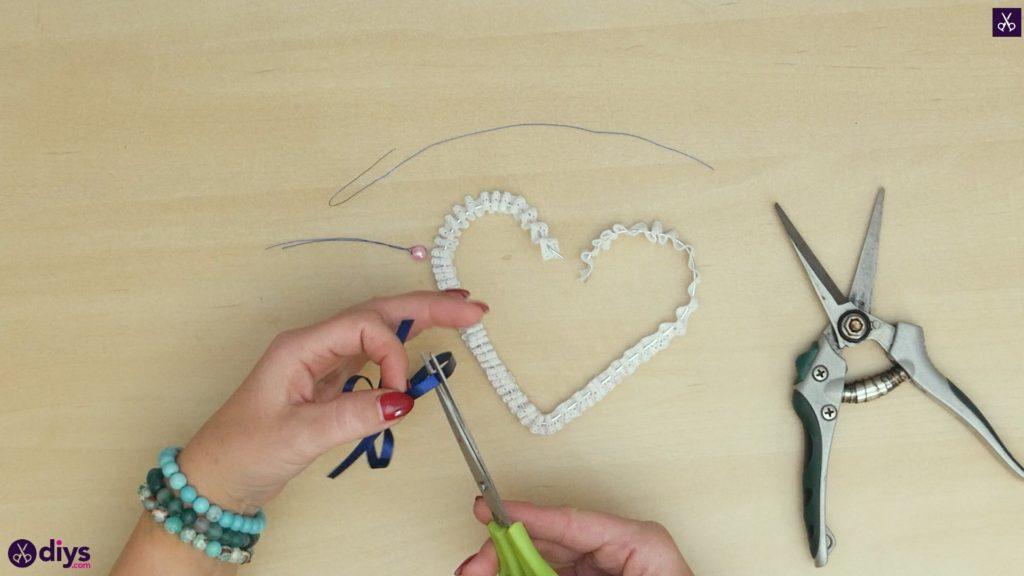 Décoration de coeur de mariage bricolage étape 5b
