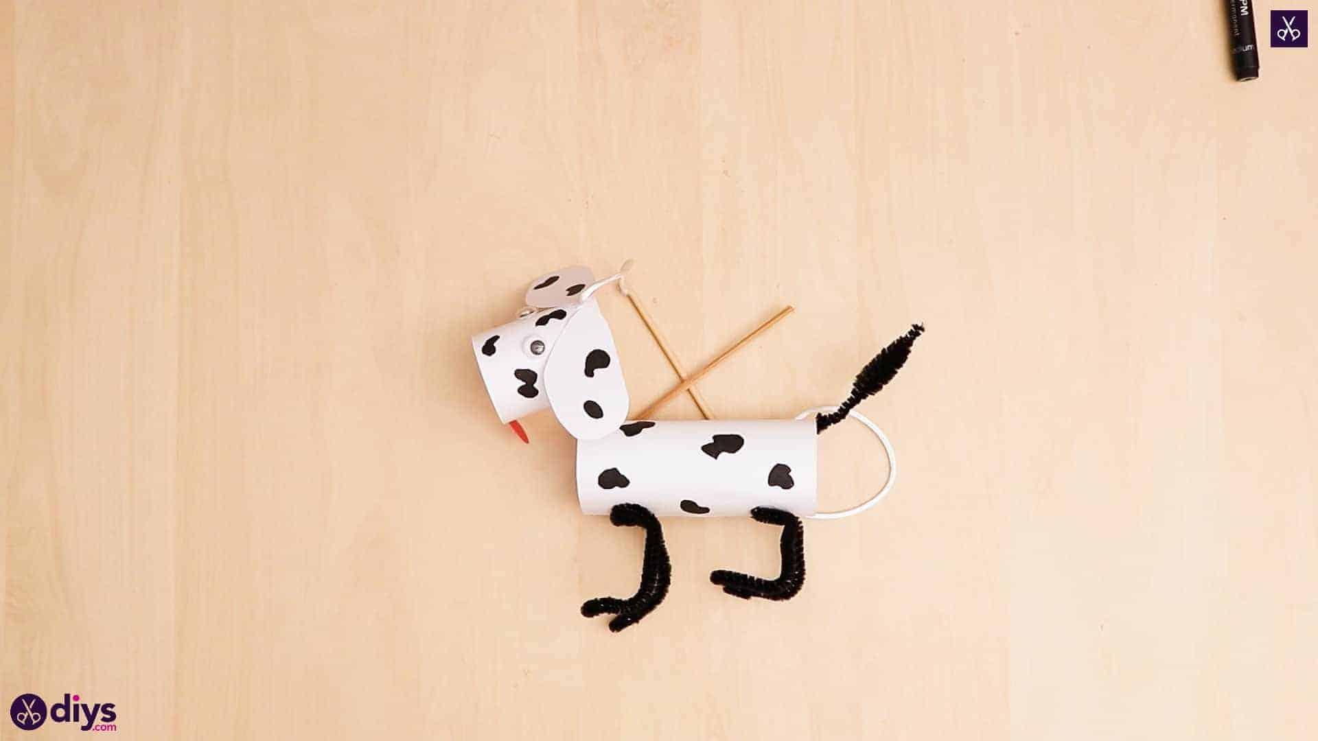 Marionnette de chien en papier 3D 1