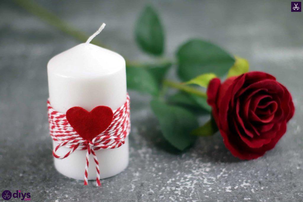 Artisanat de bougie de bricolage Saint Valentin
