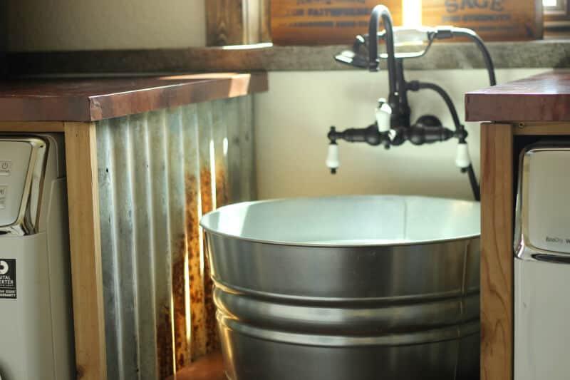 Évier de lavabo galvanisé bricolage