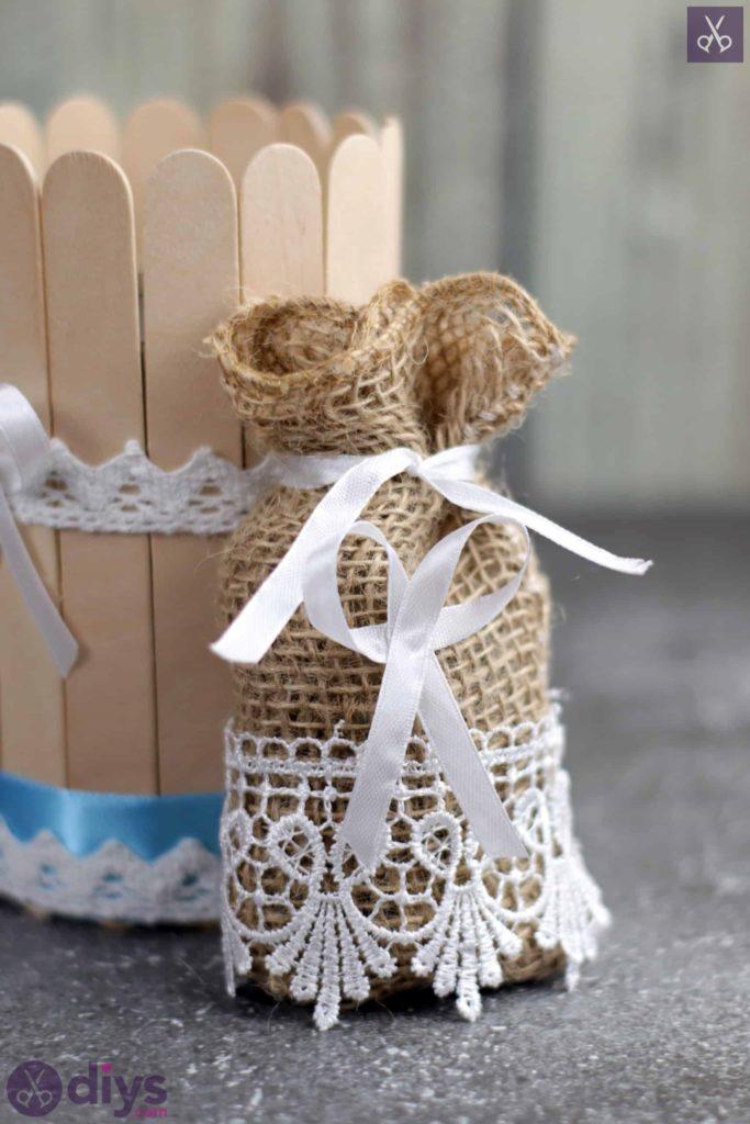 Artisanat de sac de faveur de mariage rustique bricolage