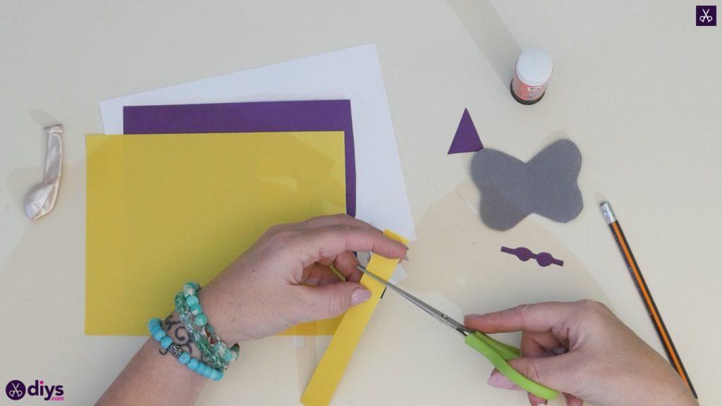 Carte d'éléphant ballon bricolage étape 4