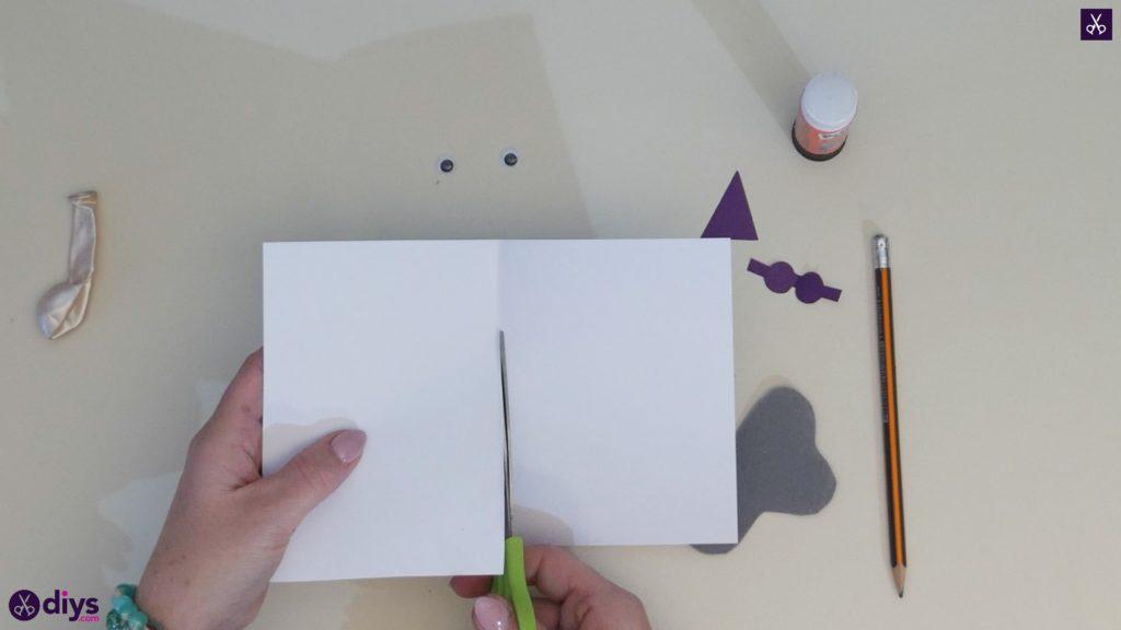 Carte d'éléphant ballon bricolage étape 5