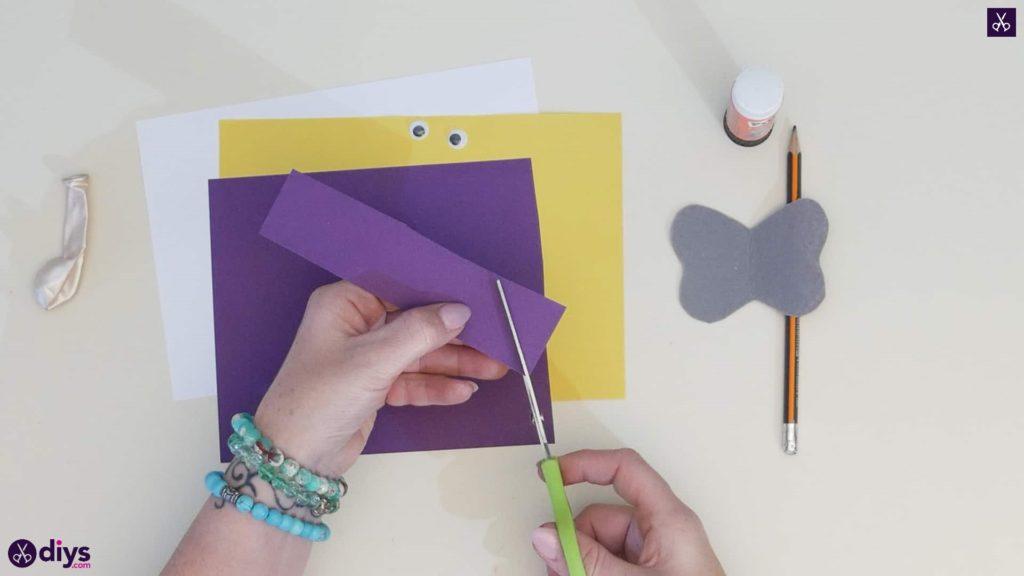 Carte d'éléphant ballon bricolage étape 2