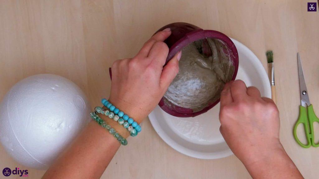 Porte-bijoux en béton bricolage plat étape 5