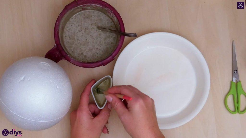 Porte-bijoux en béton bricolage plat étape 3a