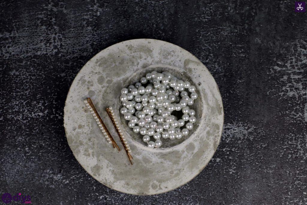 Porte-bijoux en béton bricolage plat étape 9
