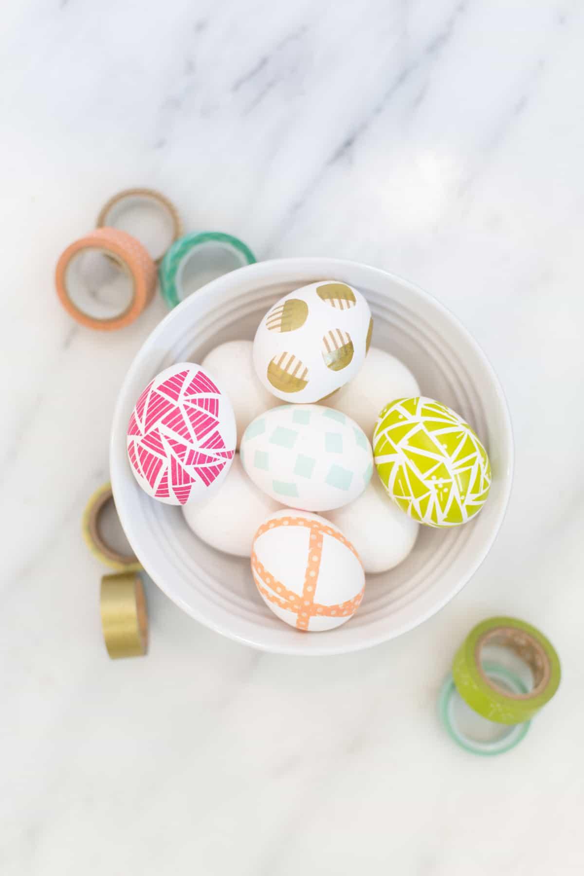 Oeufs de Pâques en ruban Washi
