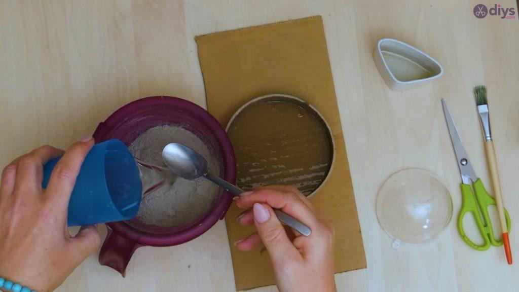 Petit bol en béton bricolage étape 5