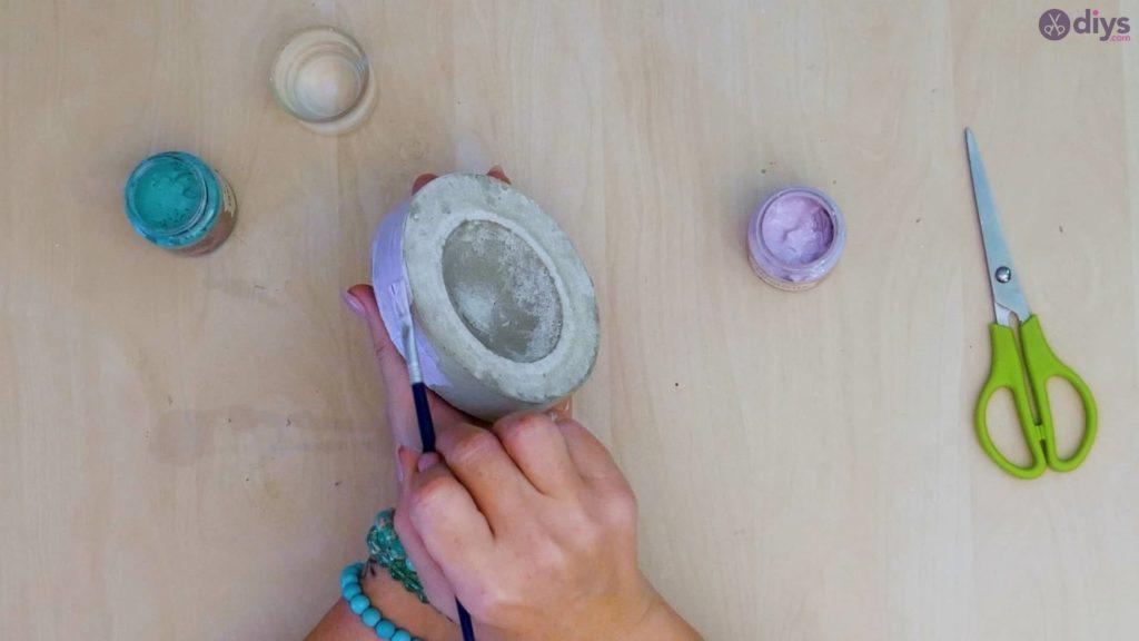 Petit bol en béton bricolage étape 9b