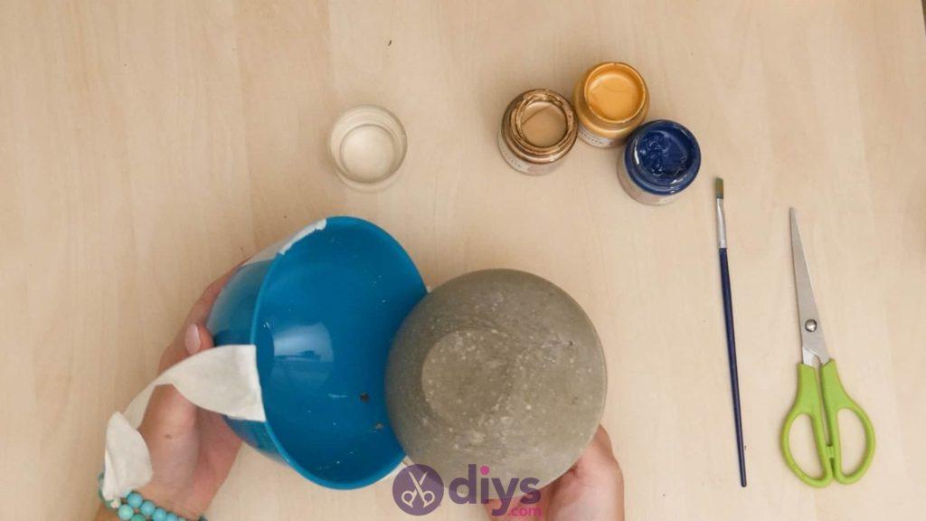 Cendrier en béton bricolage étape 5a