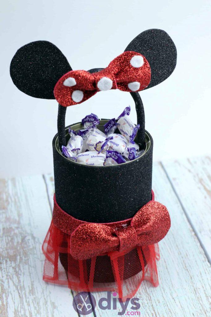 Boîte de conserve Minnie Mouse bricolage