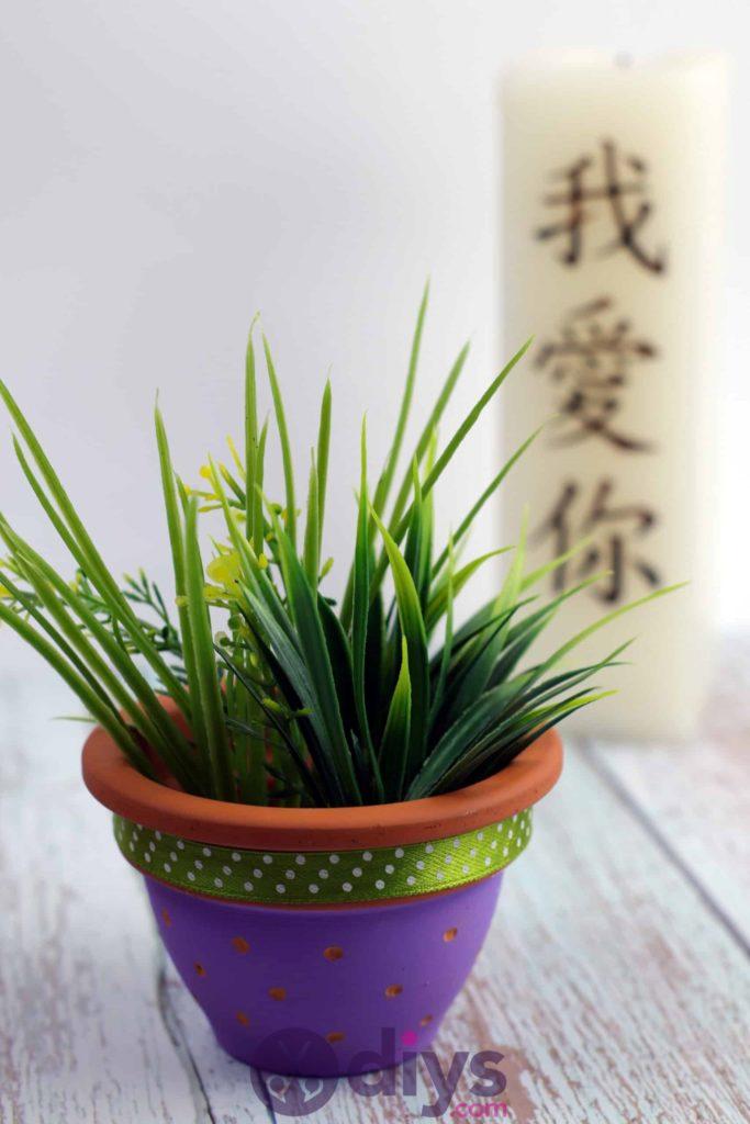Projet de pot de fleur coloré bricolage