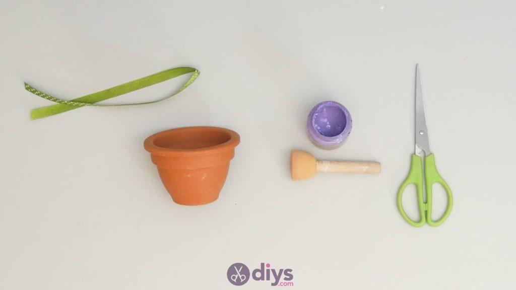 Pot de fleur coloré bricolage étape 2