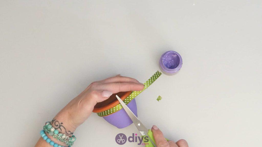 Pot de fleur coloré bricolage étape 3d