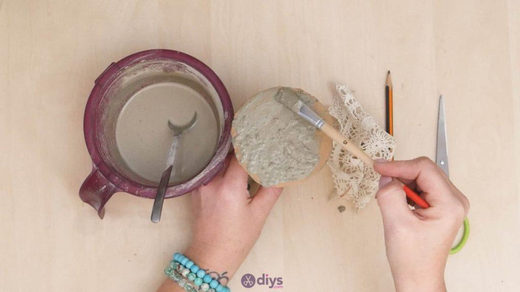 Support de napperon en béton bricolage étape 5a