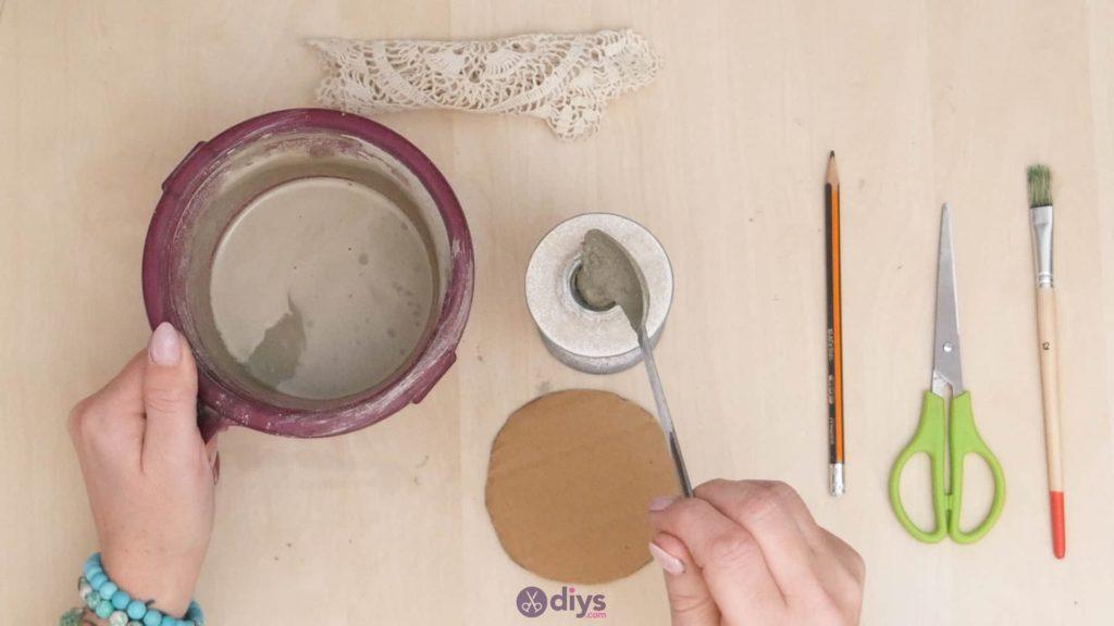 Support de napperon en béton bricolage étape 4a