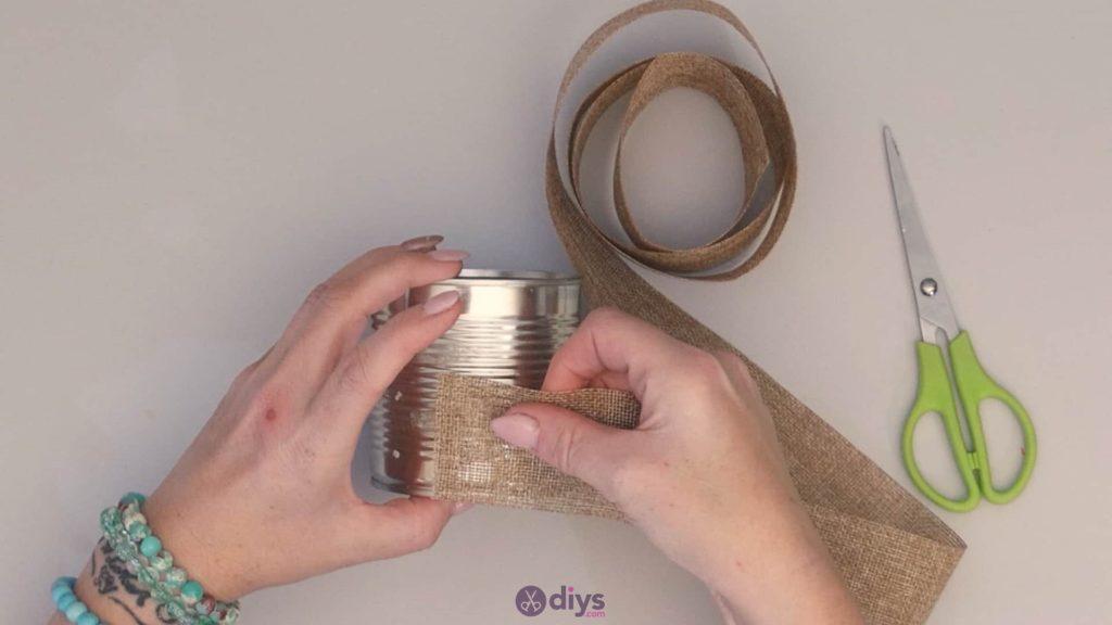 Emballage de boîte de conserve rustique bricolage