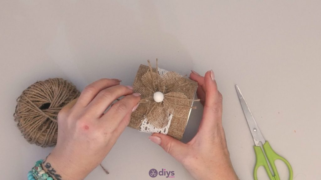 Boîte de conserve rustique bricolage étape 10a