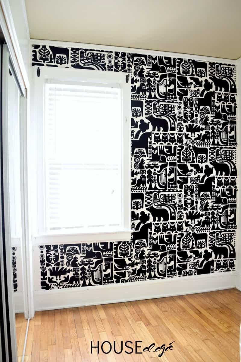 Mur recouvert de tissu
