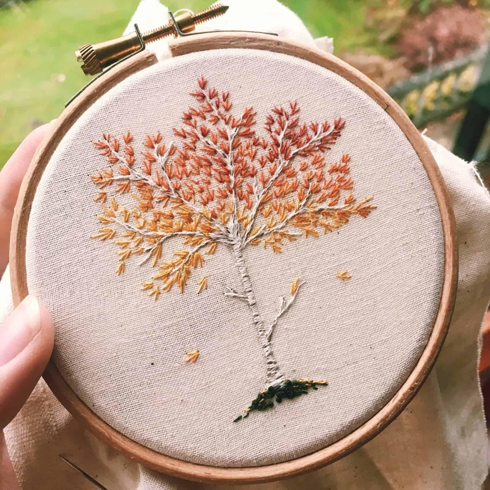 Kit arbre bouleau argenté automne