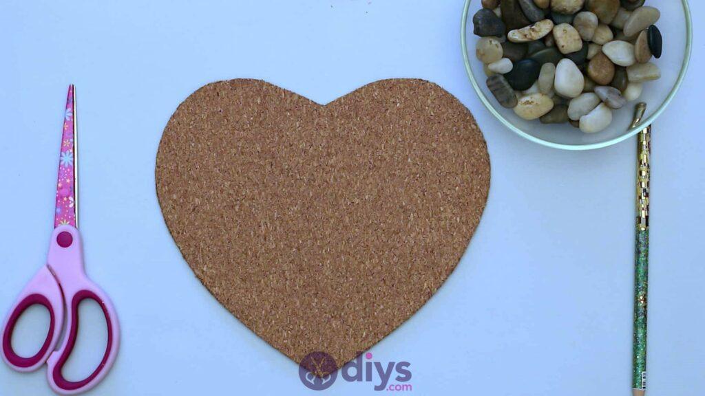 Sous-plaque de galets en forme de coeur étape 2b