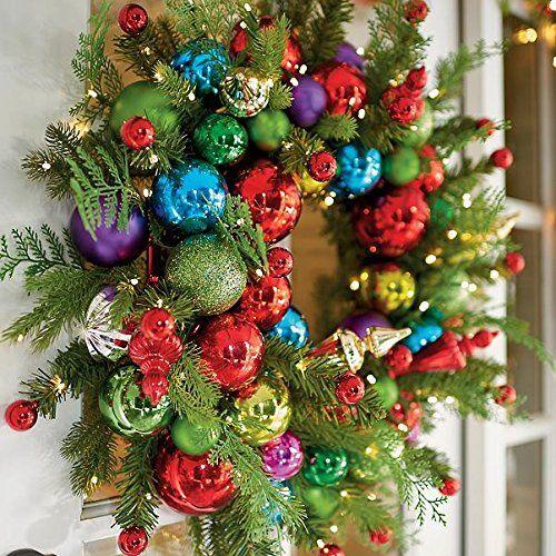artisanat de Noël avec des sphères pour portes