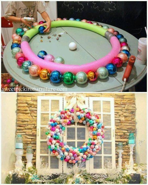 Décorations de Noël avec sphères pour fenêtres